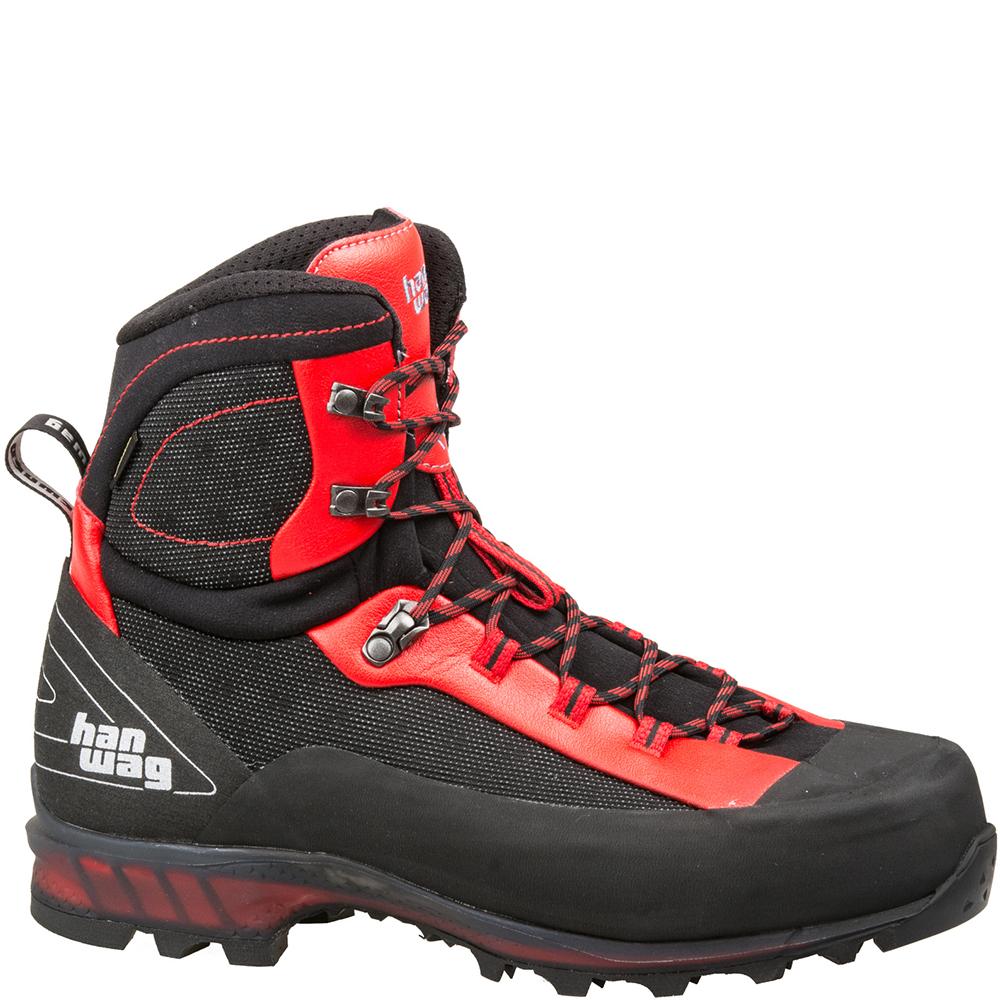 """Multifunctionele, stijgijzervaste alpine schoen- ideaal voor via ferratas en geschikt voor bijna ieder terrein.TubeTec Rock tussenzool voor een perfecte balans tussen performance, comfort en duurzaamheid Vibram """"Mont Compound"""" en Hanwag Integral Light profiel design voor alpine bergbeklimmen"""
